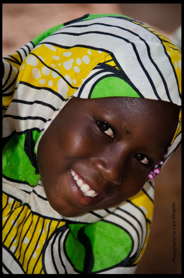 Happy girl in Burkina Faso
