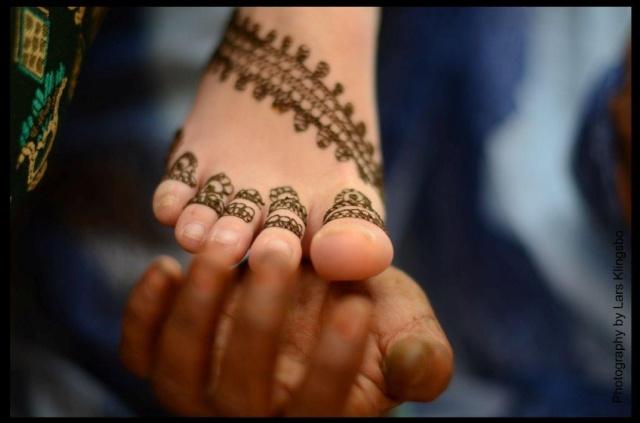 Henna painting Mauretania